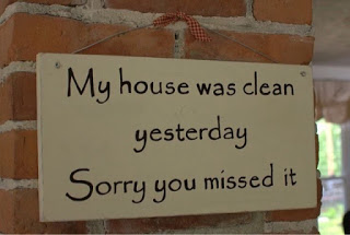 my house was clean yesterday sorry you missed it