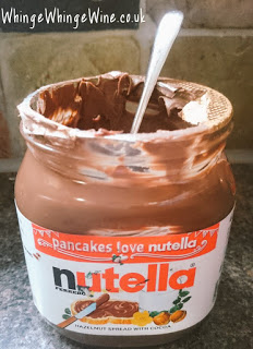 Nutella with a spoon: Something you're allowed to do, because you're a grown up.