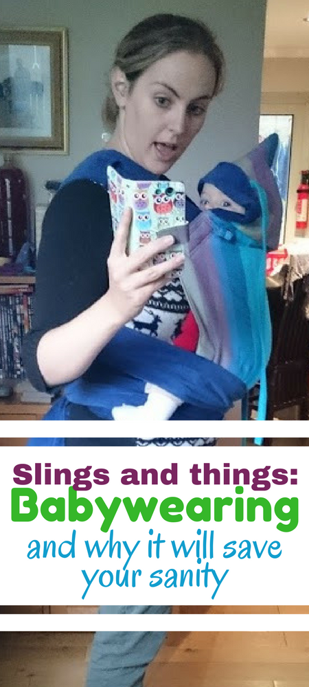Slings and things Babywearing and why it will save your sanity. The story of how I fell in love with babywearing and got my newborn baby to take a flipping nap occasionally #newborn #baby #momlife #momming #slings #babywearing #mumlife #beingamom