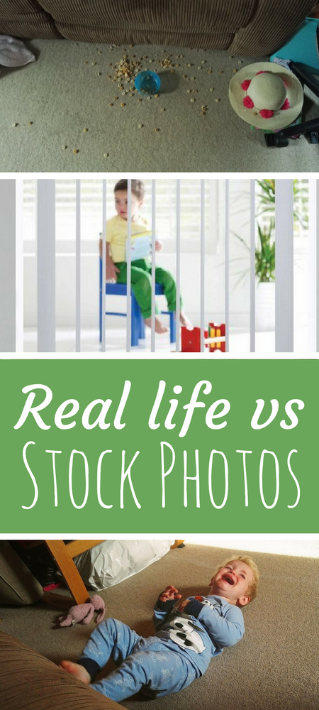 Picture perfect parenting: Real #momlife vs the stock photos. Taking a look at the unrealistic expectations set by internet and packaging stock photography #mom #mumlife #parenting #truthaboutparenting #reallife