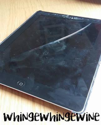 One properly smashed up iPad