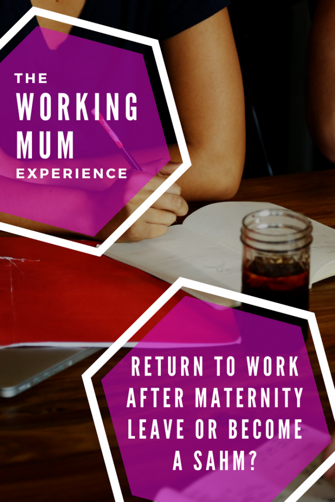 The working mum experience part 1 When my maternity leave ended I had to make the choice between going back to work or becoming a stay at home parent. #MaternityLeave #SAHM #StayAtHomeMom #Momlife #SAHMlife #workingmum #workingmom #mumlife #MatLeave #Parenting #Babies Working mom v stay at home mom