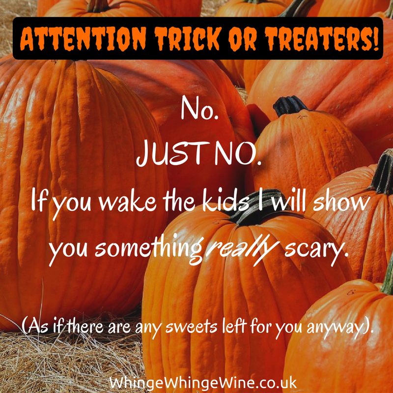 halloween pumpkins - Attention trick or treaters not welcome