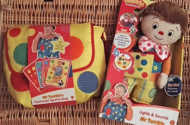 Mr Tumble Toys: If you're looking for Something Special, try these toys - textured spotty bag and lights & sounds Mr Tumble