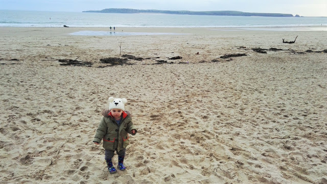 Wintry seaside fun at Tenby