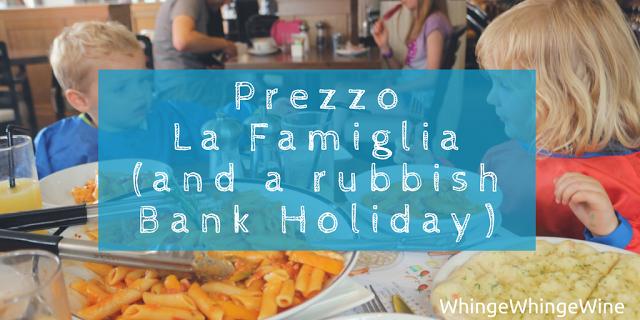 #PrezzoLaFamiglia: We review the Prezzo family sharing bowl (La Famiglia) - a dish for sharing (and a rubbish bank holiday)