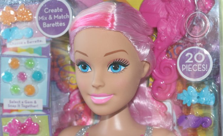 Barbie dreamtopia styling head in box