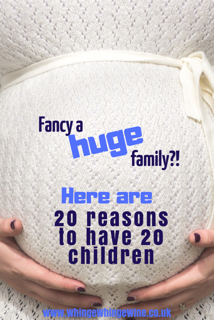 Congratulations to The Radford family who have just announced they are expecting their 21st child. You might be thinking 'nutters, who would do that?!' and various other things but I'm here to tell you that actually, you all SHOULD have 20 kids, and here are 20 totally legitimate and not at all clutching at straws reasons why. #bigfamily #bigfamilies #radfordfamily #radfords #20children #20kidsandcounting #21kidsandcounting #hugefamily #momhumor #parenting