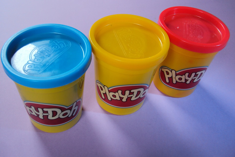 Play Doh first day at preschool