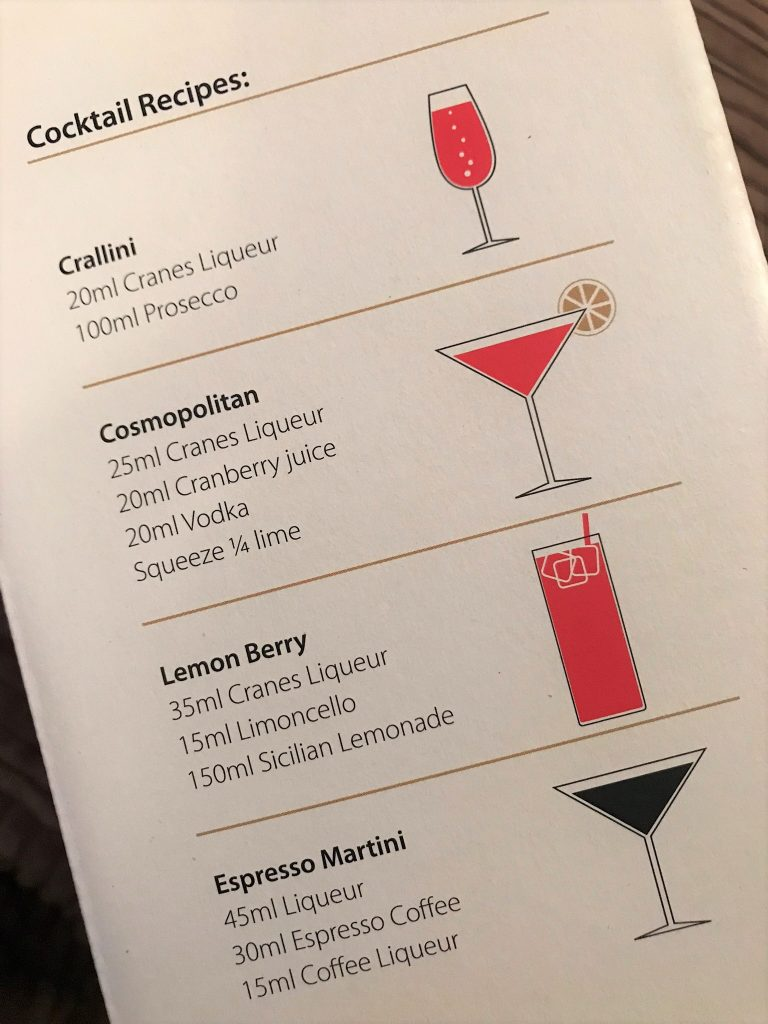 Cranes Cranberry Cocktails