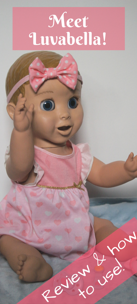 Luvabella Doll review & how to use: find out what batteries she needs and how she works! Read our Luvabella review to find out what happens when Luvabells batteries run out, how to keep her clean & how to play #luvabella #dolls #reviews