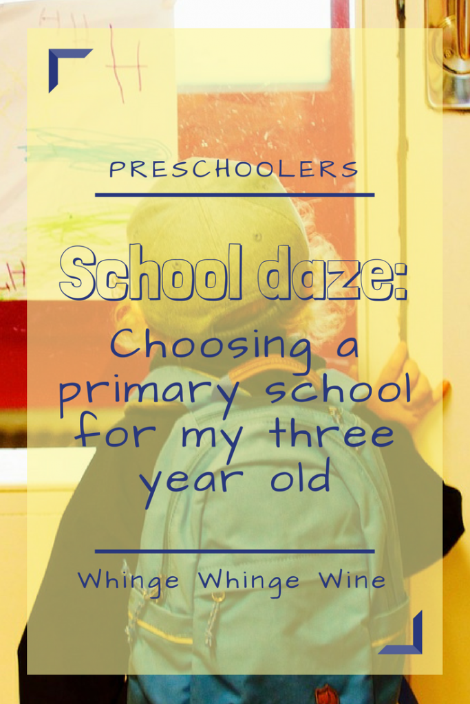 School Daze: Choosing a primary school for my three year old. What do I look for in a primary school? What questions do I ask? Why has nobody told me what I should be doing?! #primaryschool #school #threeyearold #preschooler #schools #parenting #parentingadvice #mumlife #parents