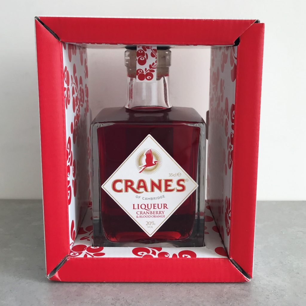 Cranes Cranberry & Blood Orange liqueur review gift box