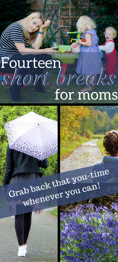 14 short breaks for moms; incorporating more you time into your busy day as a mum. Tongue in cheek, of course #mom #momlife #parenting #humor #mumlife #beingamum #metime #advice #tips #adviceformoms