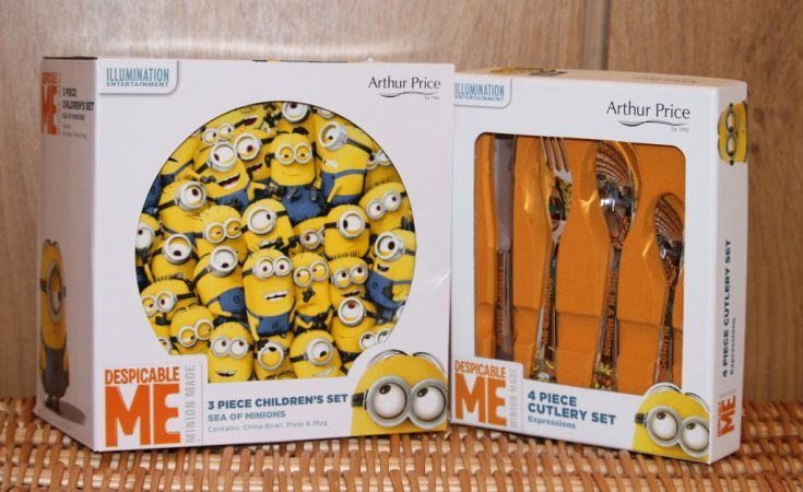 Arthur Price Despicable Me 3 minion cutlery and crockery