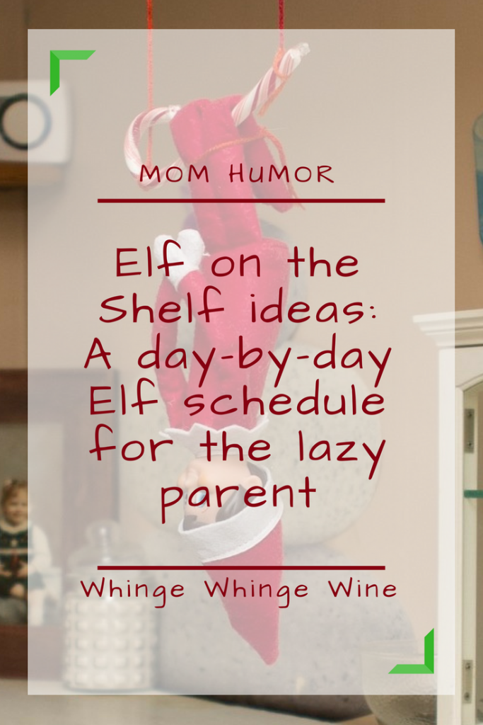 ELF ON THE SHELF IDEAS! (kind of) Do you have an Elf on the Shelf? If you're looking for Elf on the Shelf ideas, then here is a typical December routine for your Christmas Elf! #elfontheshelf #elfonashelf #elf #christmas #parenting #momlife #mumlife #parentingadvice #elfideas #elfontheshelfideas