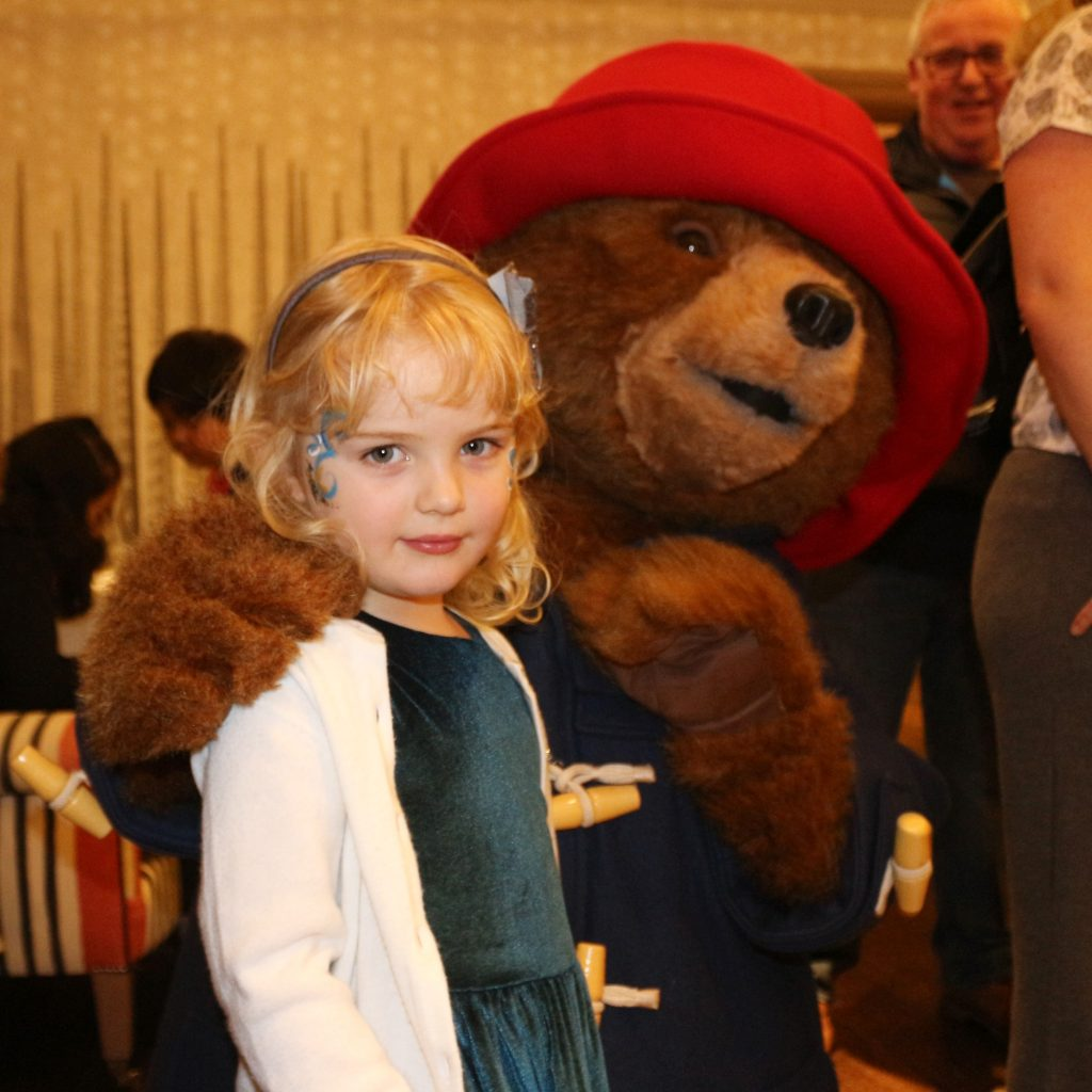 Meeting Paddington bear at Paddington 2 review - Is Paddington 2 suitable for young children of two, three and four?