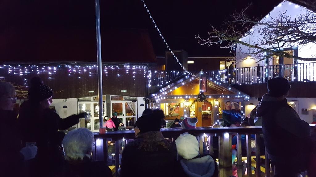 Light show Bluestone Wales village