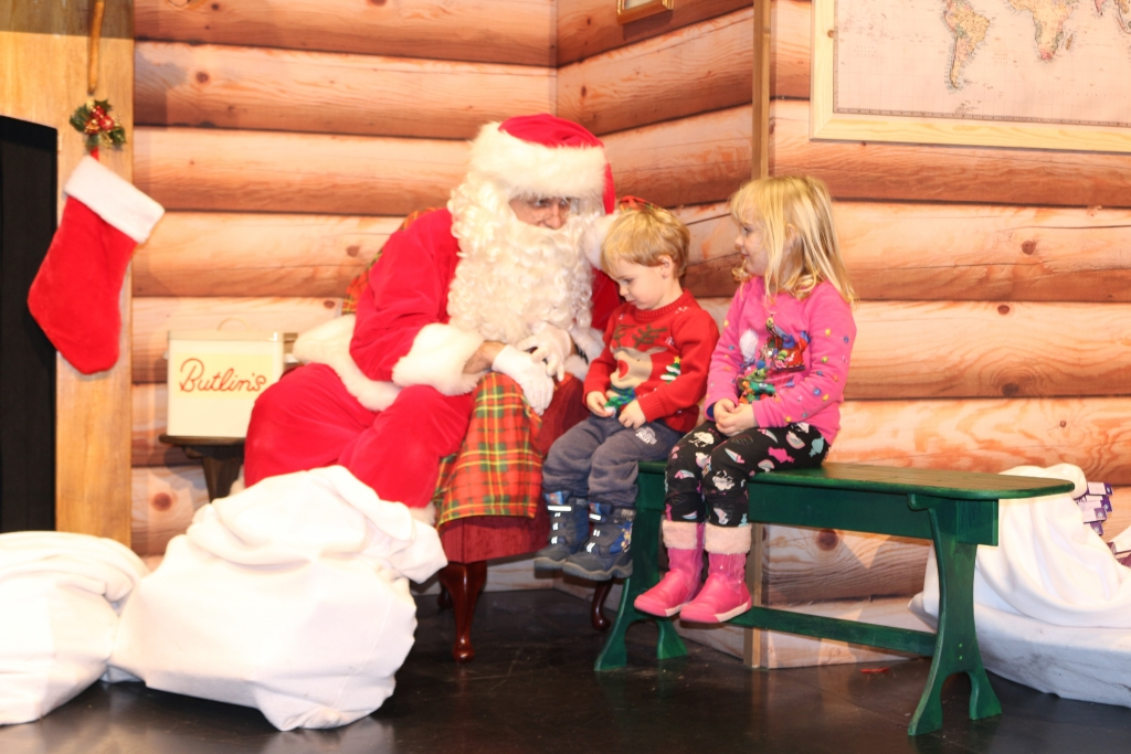 Things to do at Butlin's Bognor Regis for children under 5 Father Christmas experience