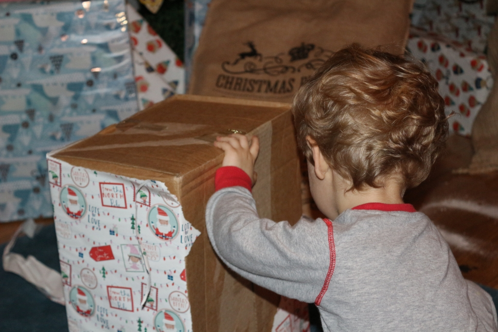 Christmas 2017 opening presents