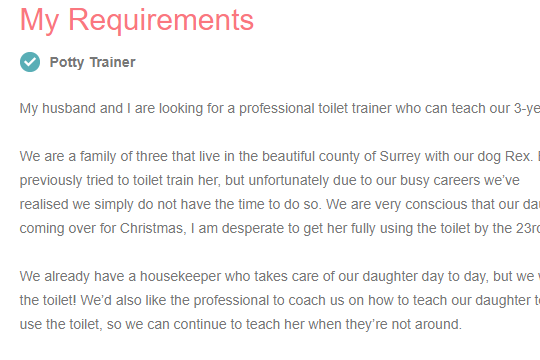 Dear parents who want to pay someone to potty train their child