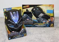 Black Panther Vibranium FX Mask and Nerf Gauntlet