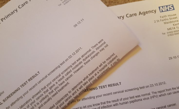 Cervical Screening Smear Test result