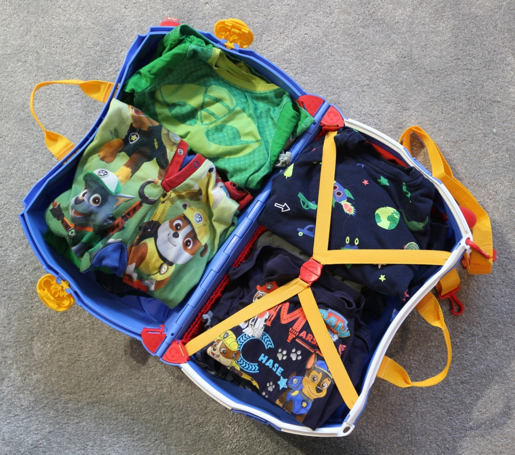 Packed Paddington Bear Trunki inside