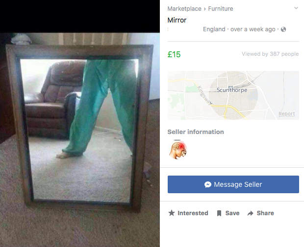 20 people that should not have tried to sell mirrors on Facebook