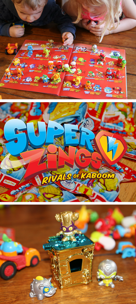 SuperZings review with video Rivals of Kaboom superheroes and villains blind bag collectibles and accessories for children aged 4-8. Read our Superzings review and watch our blind bag unboxing video!