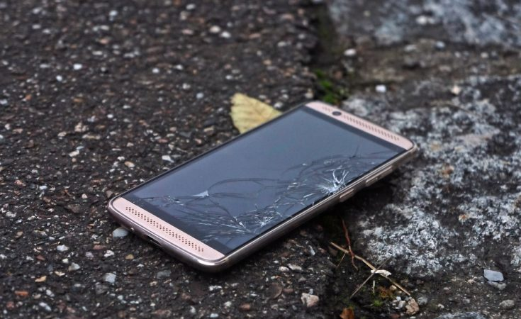 mobile phone insurance - smashed phone