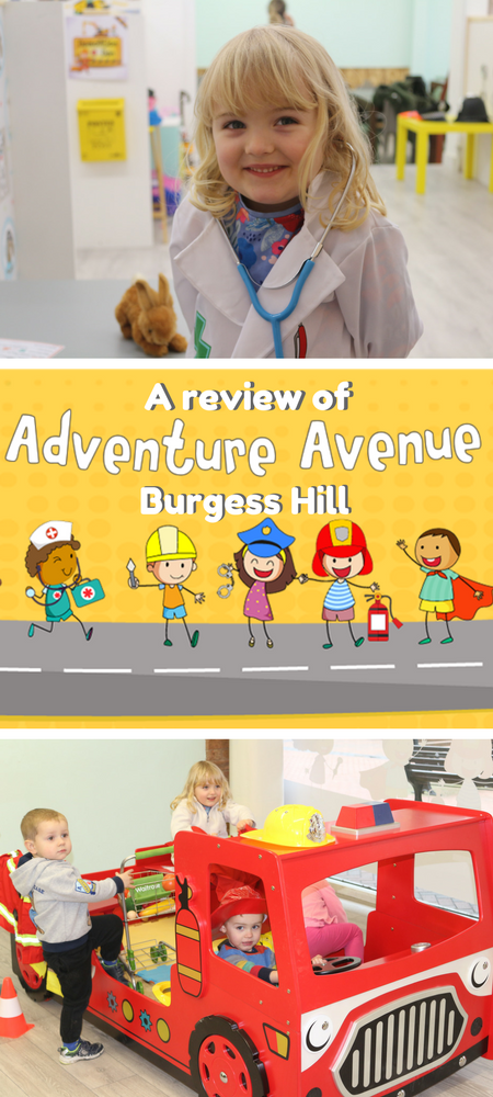 Fed up of soft play? A look around the brand new Adventure Avenue role play centre in Burgess Hill, West Sussex where children can use their imaginations... and parents don't have to tidy up! #roleplay #burgesshill #westsussex #thingstodo #kids #sussex #play #adventureavenue