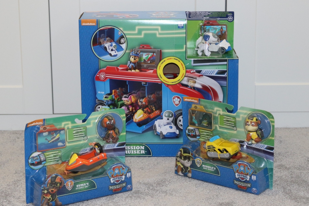 Paw Patrol Mission PAW Mission Cruiser and Mini Vehicles Rubble and Zuma