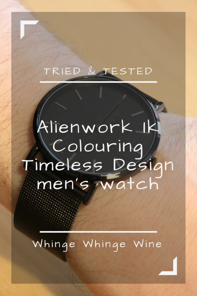 Looking for a fab gift for Father's day or birthday? Alienwork Ik Colouring Timeless Design men's watch - men's watches reviewed. Sleek and chic all black stainless steel male watch. #watch #watches #review #giftforhim #mensgifts #giftsformen #husband #fathersdaygifts