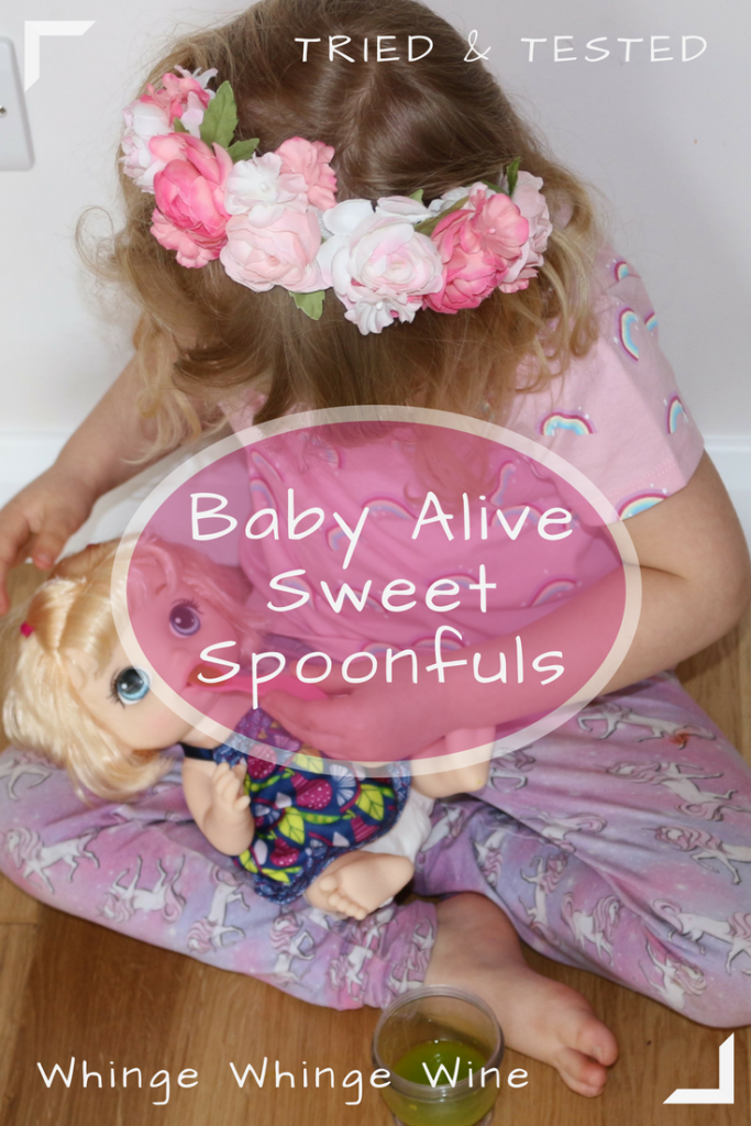 Baby Alive Sweet Spoonfuls baby doll by Hasbro - a review and how to make DIY baby doll food! #babyalive #dollfood #toys #toyreviews