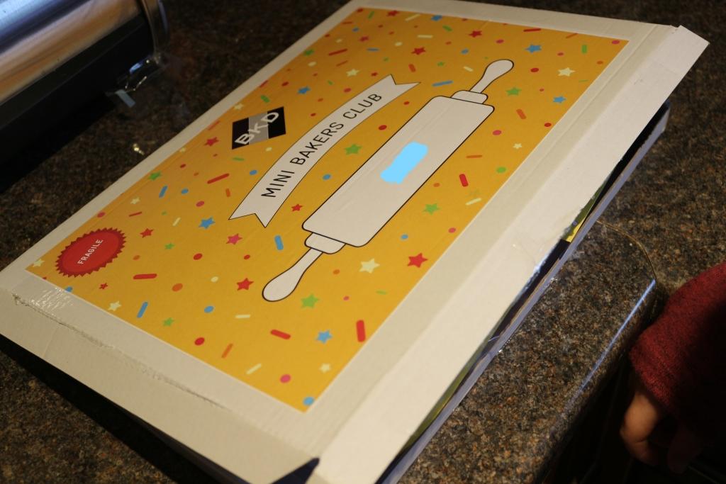 Mini Baker's Club box fits through the letterbox
