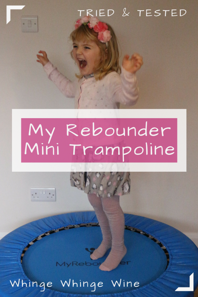 Encourage your children to exercise with the My Rebounder mini trampoline for children! My Rebounder make premium quality mini trampolines for kids aged 3-7 (up to 25kg), and we got one to review! #triedandtested #children #reviews #toys #getfit #exercise #trampoline