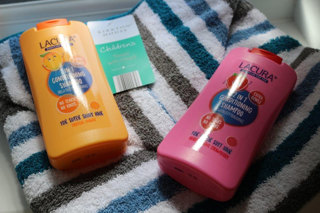 Aldi Lacura children's shampoos