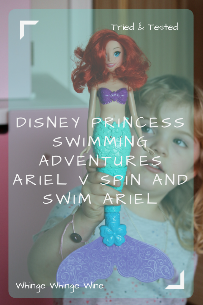 Do you like The Little Mermaid? Love Disney Princesses? What is the new Hasbro Disney Princess Swimming Adventures Ariel like and is she better than the older Spin and Swim Ariel? We take a look and compare the two bath time toys to see which is more fun! #hasbro #ariel #thelittlemermaid #toys #toyreviews