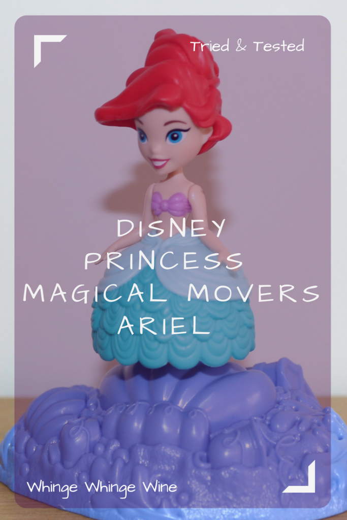 Disney Princess Little Kingdom Magical Movers Ariel doll review. Make Ariel spin and twirl with no batteries. #toys #preschoolertoys #toyreviews