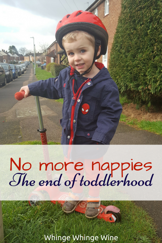 Real Parenting - No more diapers, the end of toddlerhood. No more babies, no more toddlers. My baby is growing up! #Toddlers #Parenting #Momlife #Mumlife #Realparenting #Nappies #Diapers