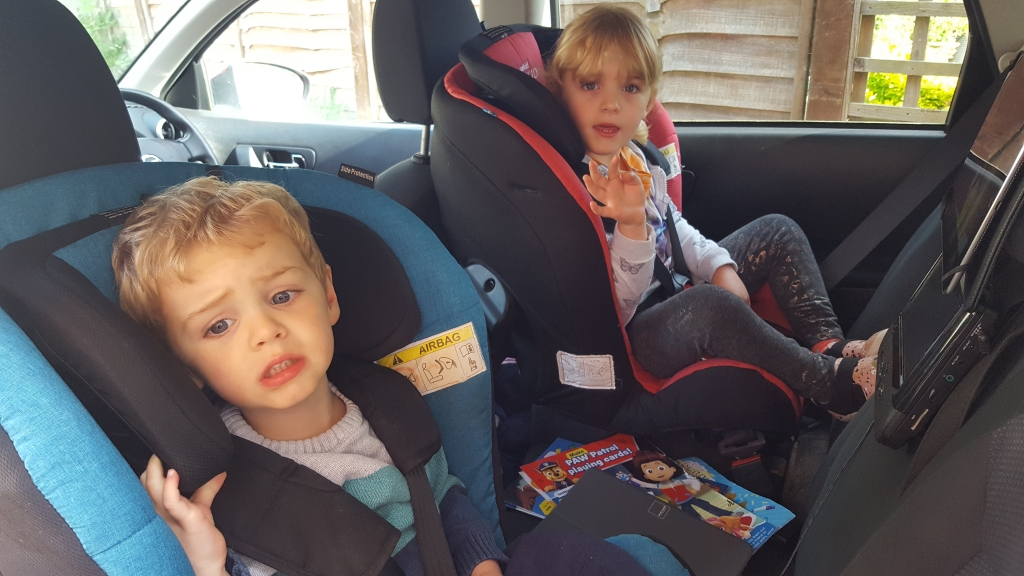 Going on holiday alone with the kids - car journeys are major whingeathons