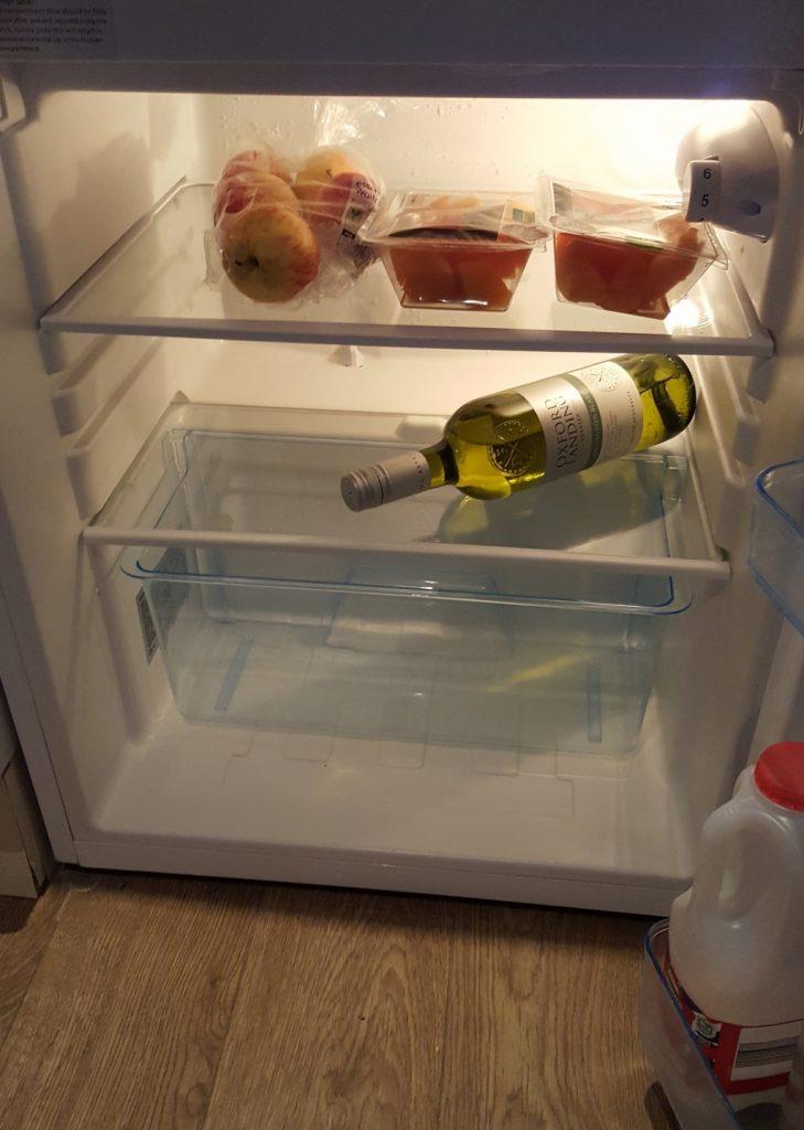 What's in the fridge? Uh, essentials