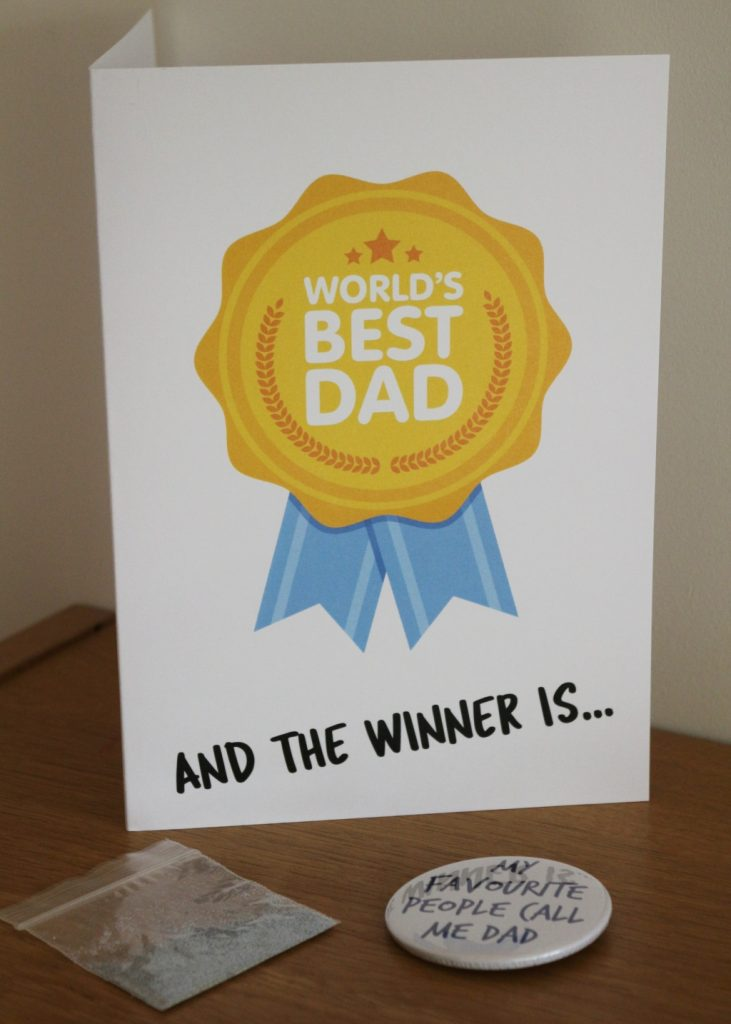 7. Gliltter Shitter Love Layla funny rude and inappropriate greetings cards for Father's Day with 20% discount code