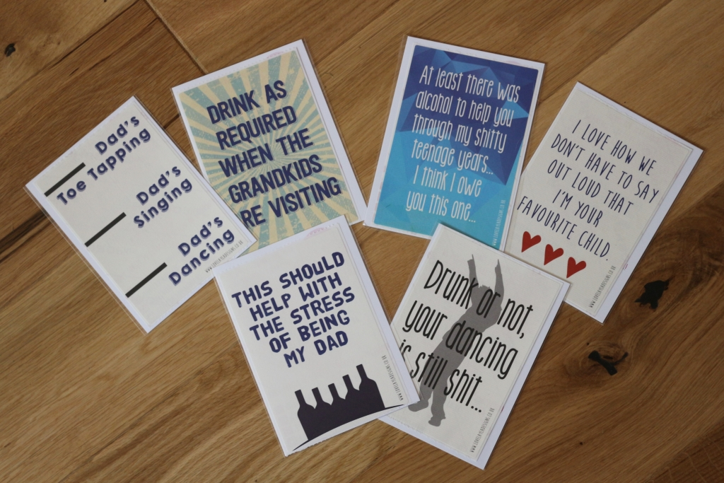 8. Love Layla funny rude and inappropriate greetings cards for Father's Day - Wine bottle labels for dad