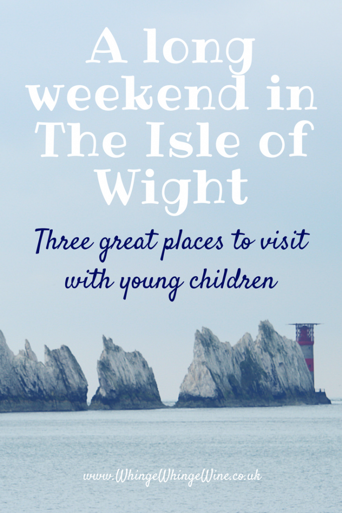 A long weekend in the Isle of Wight - three things to do with preschool aged children in the rain or shine including a review of The Needles, Blackgang Chine and Sandown Pier #familytravel #UKholidays #IsleofWight #Familyholidays