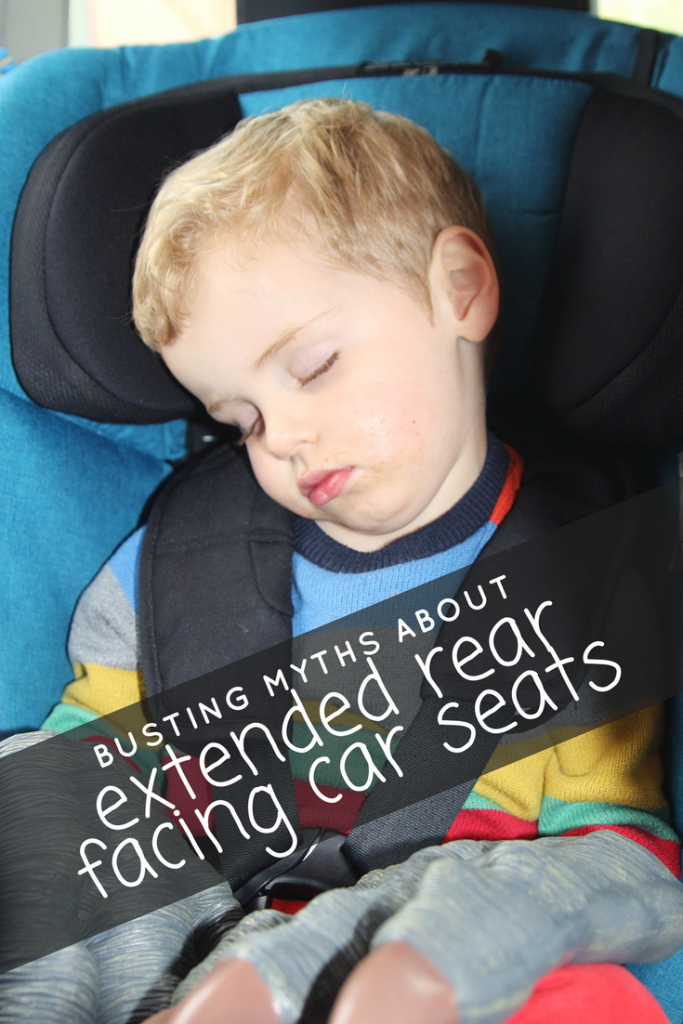 Thinking of rear facing your baby, toddler or preschooler? You totally should! It's five times safer than a forward facing car seat. If you're on the fence, this post busts the myths about extended rear facing car seats and will hopefully persuade you to keep your toddlers and preschoolers rear facing for longer. #rearfacing #extendedrearfacing #rearfacingtoddlers #reasonstorearface #fivetimessafer #children #babies #carseat #safety #toddlers #preschoolers #moms #momlife #mumlife #parenting #parentingadvice #musthaves