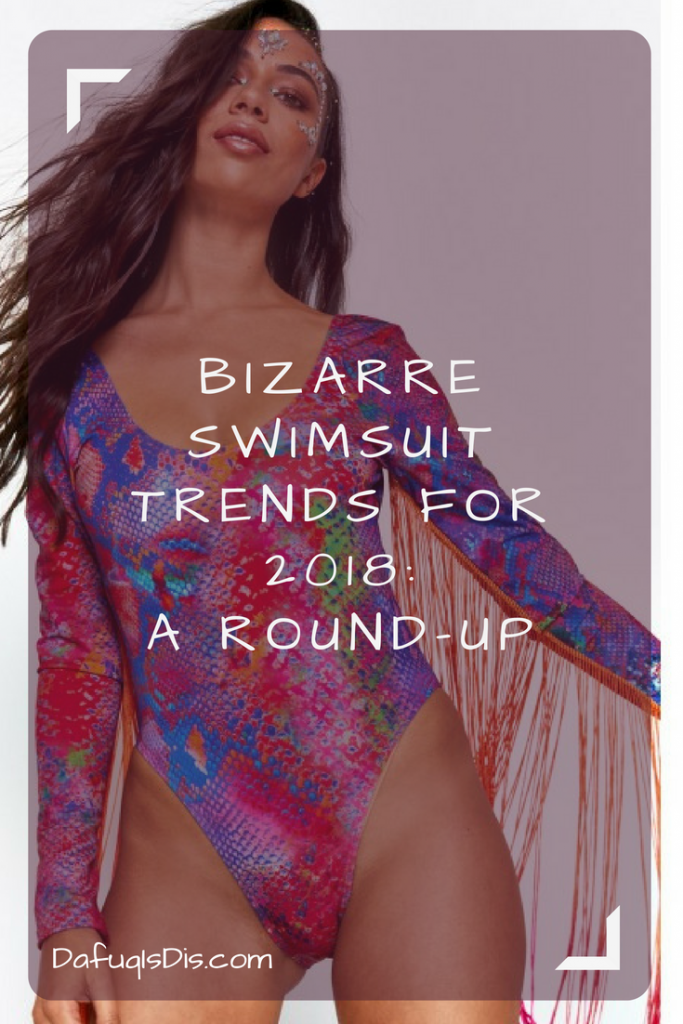 Bizarre swimsuit trends for 2018 A round-up of the most hilarious and unique fashion swimwear we could find this summer! #fashion #swimwear #dafuq #swimmingcostumes #trends #2018trends #fashiontrends2018