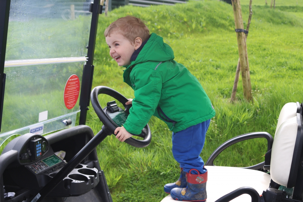 Bluestone Wales in April 2018 - on the golf buggy