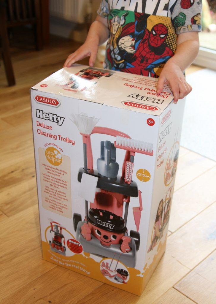 Casdon Deluxe Hetty Henry Cleaning Trolley - box